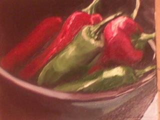 Peppers in Bowl