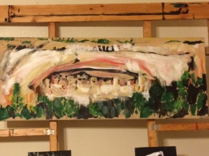 """Mesa Verde"" Acrylic on Canvas appx. 18""x48"""